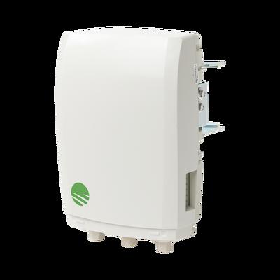Unidad Terminal MultiHaul™ TU, 90°, 100 Mbps actualizables a 1000Mbps, 3 puertos RJ-45 (Salida PoE habilidata en 2 puertos), Montaje e inyector PoE incluidos, IP65, Color Blanco