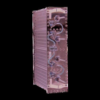 "Duplexer Pasa Banda-Rechazo de Banda, 406-512 MHz, 4 Cav. de 4"" por lado, 5 MHz, 350 Watt, N Hem."