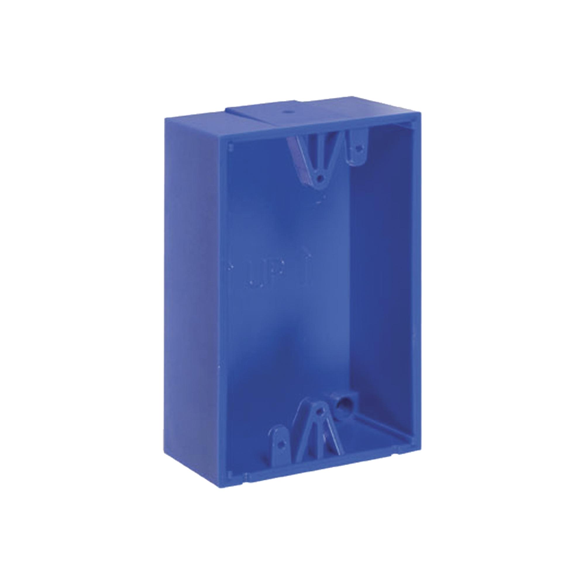 Caja de Montaje Color Azul para Botones de Emergencia STI