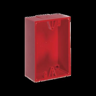 Caja de Montaje Color Rojo para Botones de Emergencia STI