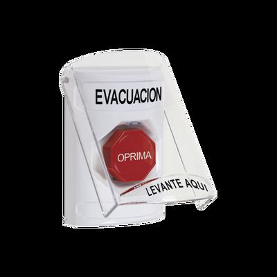 Botón de Evacuación con Tapa Protectora de Policarbonato Súper Resistente y Restablecimiento con Llave