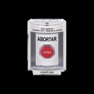 Botón de Aborto con Cubierta Protectora de Policarbonato Súper Resistente y Restablecimiento con Llave