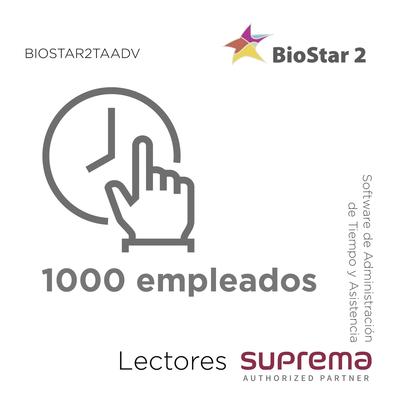 Software de Administración de Tiempo y Asistencia hasta 1000 empleados, para Lectores SUPREMA