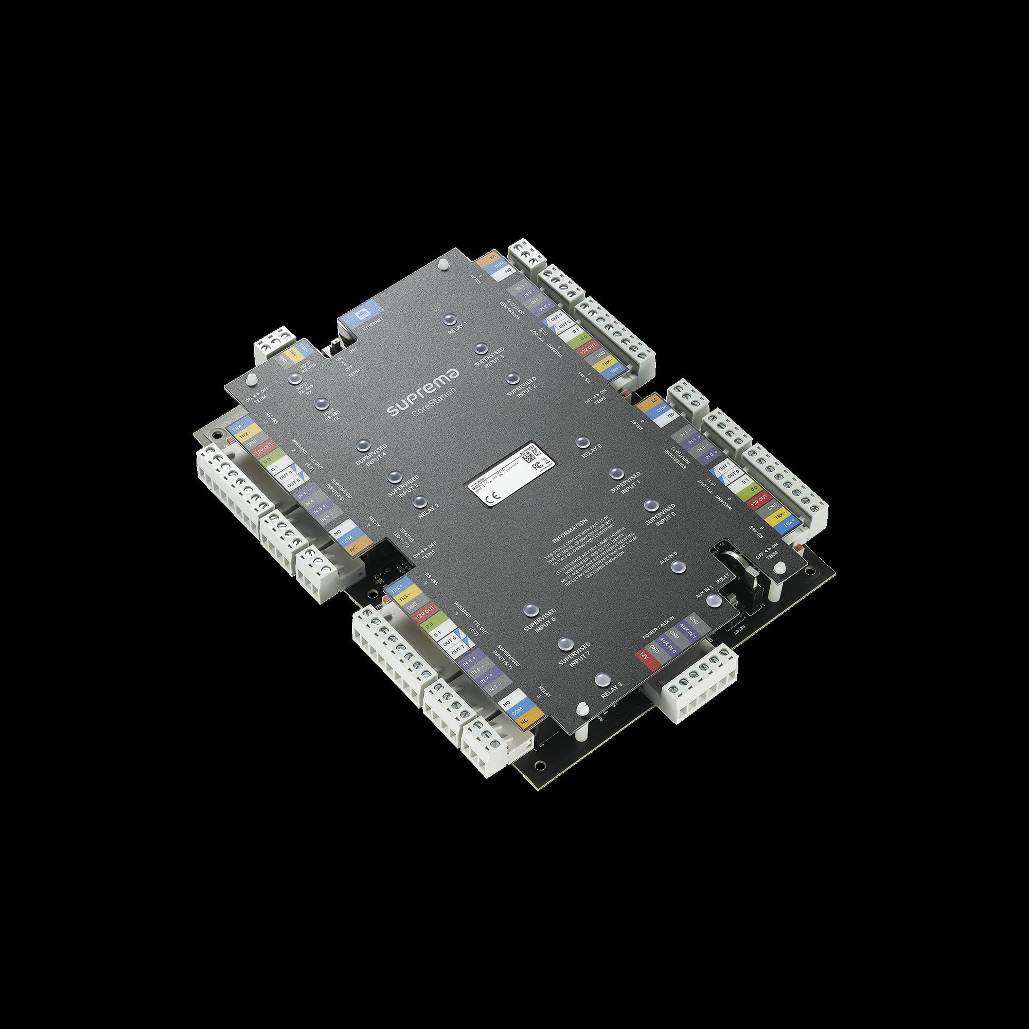 CoreStation Panel de Control de Acceso / Biometría Integrada / Compatible con Sistema de Elevadores / 200,000 Huellas  / 4 Puertas