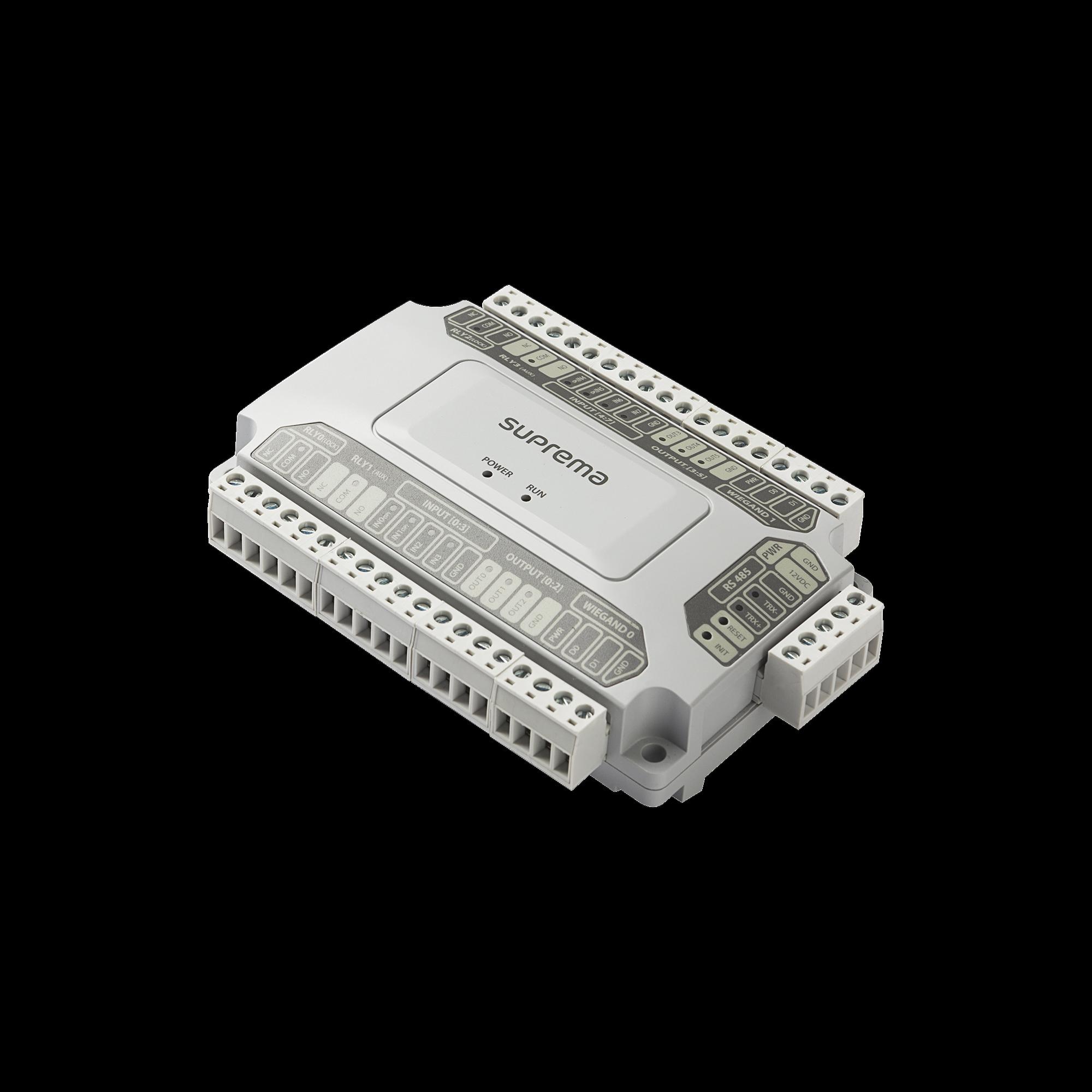 Módulo para Control de Puertas / 2 Entradas/Salidas Weigand / 4 Salidas de Relevador tipo C / Uso con BioStar 2