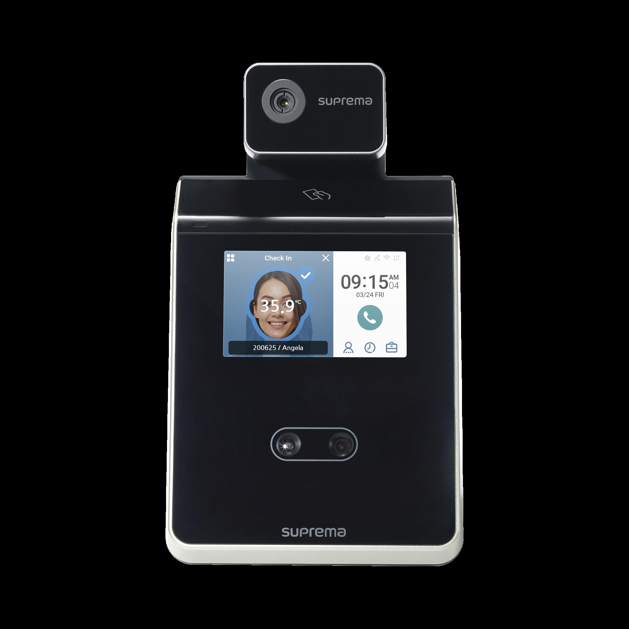 FaceStation 2 Lector Facial/ Notificación por Temperatura Alta /  Bluetooth MultiClass SE Dual RFID (125KHZ EM HID PROX 13.56MHZ Mifare DesFire / EV1 FELICA ICLASS S) Compatible con BioStar2
