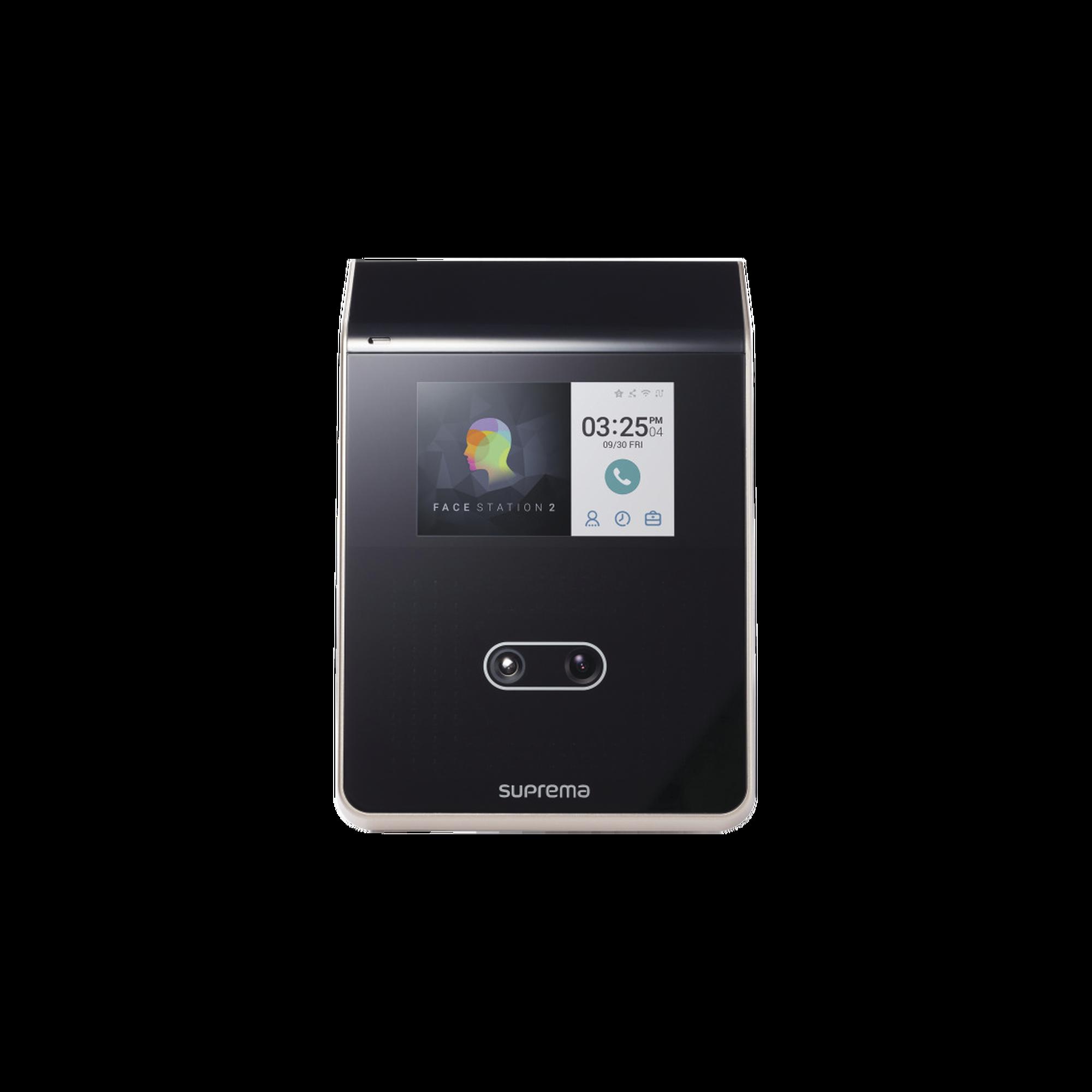 FaceStation 2 Lector Facial Multiclass SE Dual RFID (125KHZ EM HID Prox 13.56MHZ Mifare DesFire/EV1 FeliCa iClass S Compatible con BioStar2