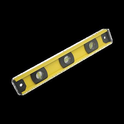 """Nivel de aluminio de 14"""", con gotas horizontales y verticales."""