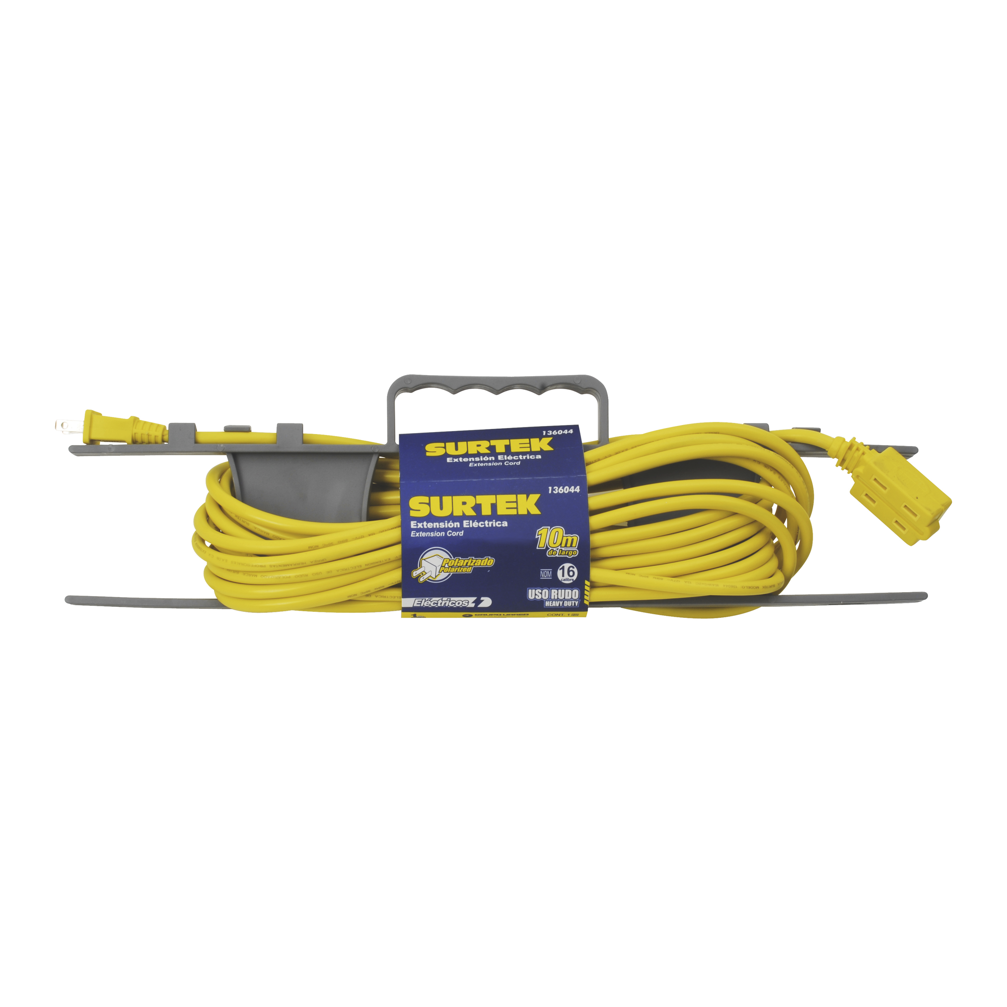 Extension electrica uso rudo 127vca l-n 2m 3 tomas 10A max