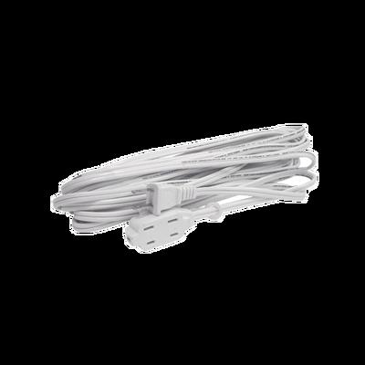 Extensión Eléctrica Doméstica de 2 metros, (127Vca/ 8A Máximo) clavija 2 patas con 3 salidas Color Blanca.