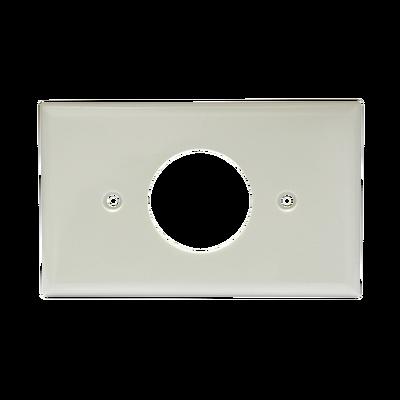 Placa de plástico para contacto sencillo.