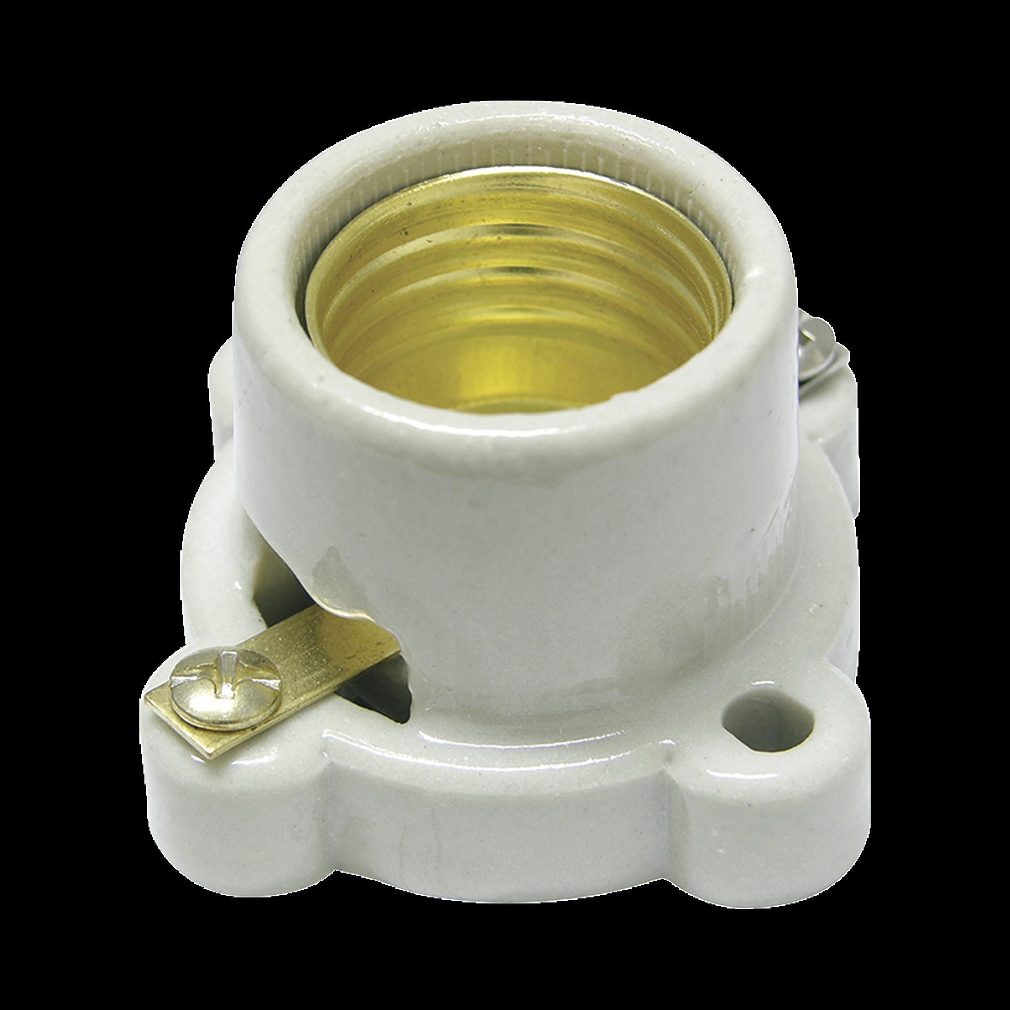 Portalámpara base cuadrada de porcelana, potencia 660 watts.