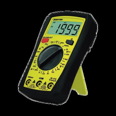 Multímetro digital 600V con protector de caucho baterías incluidas.