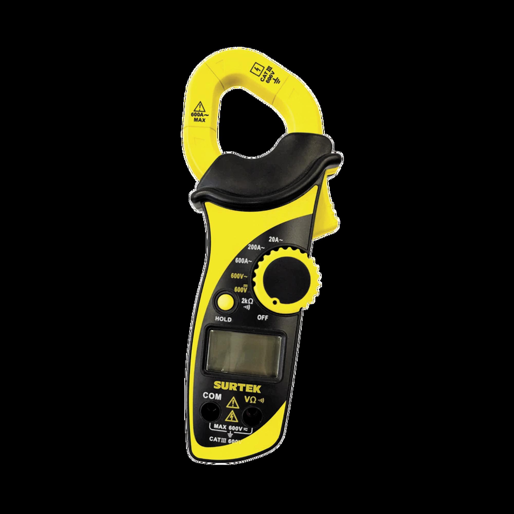 Multímetro digital de gancho 600 V profesional.