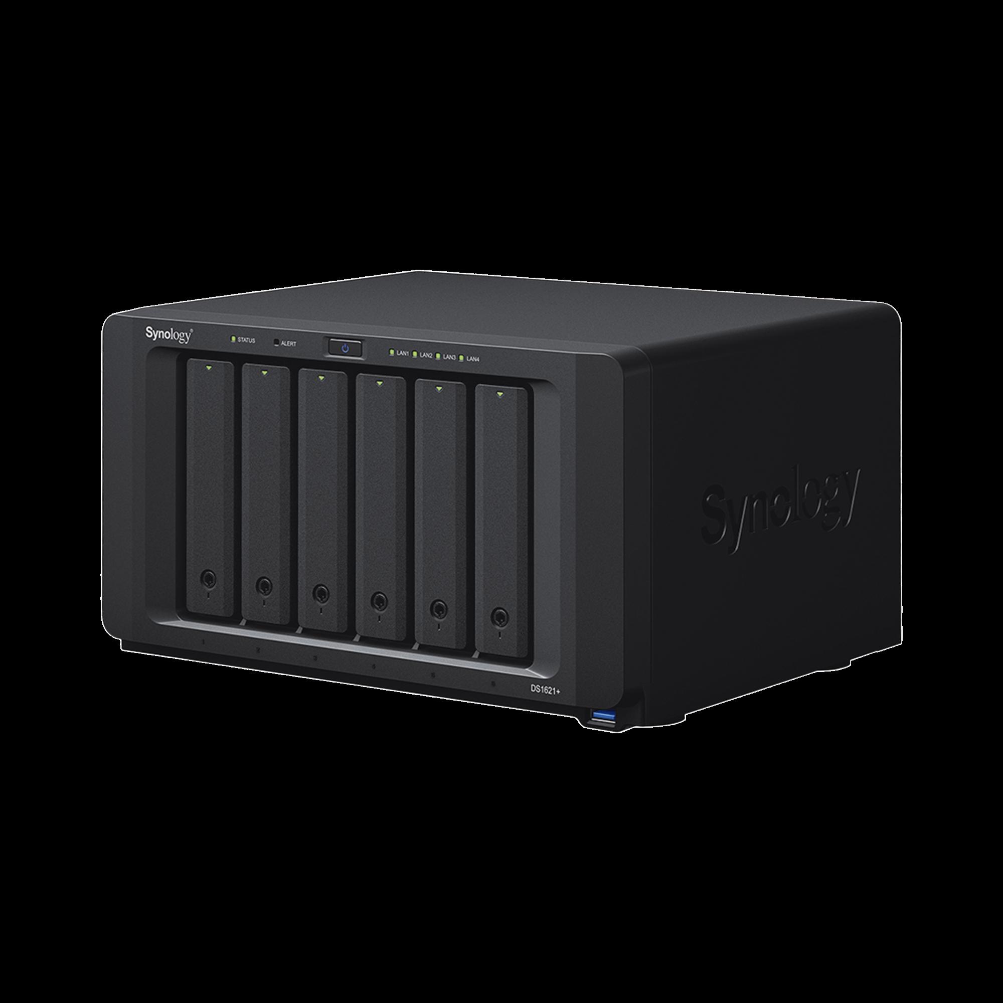 Servidor NAS de escritorio de 6 bahias / Expandible a 16 bahías / Hasta 256TB / Hasta 32GB de RAM