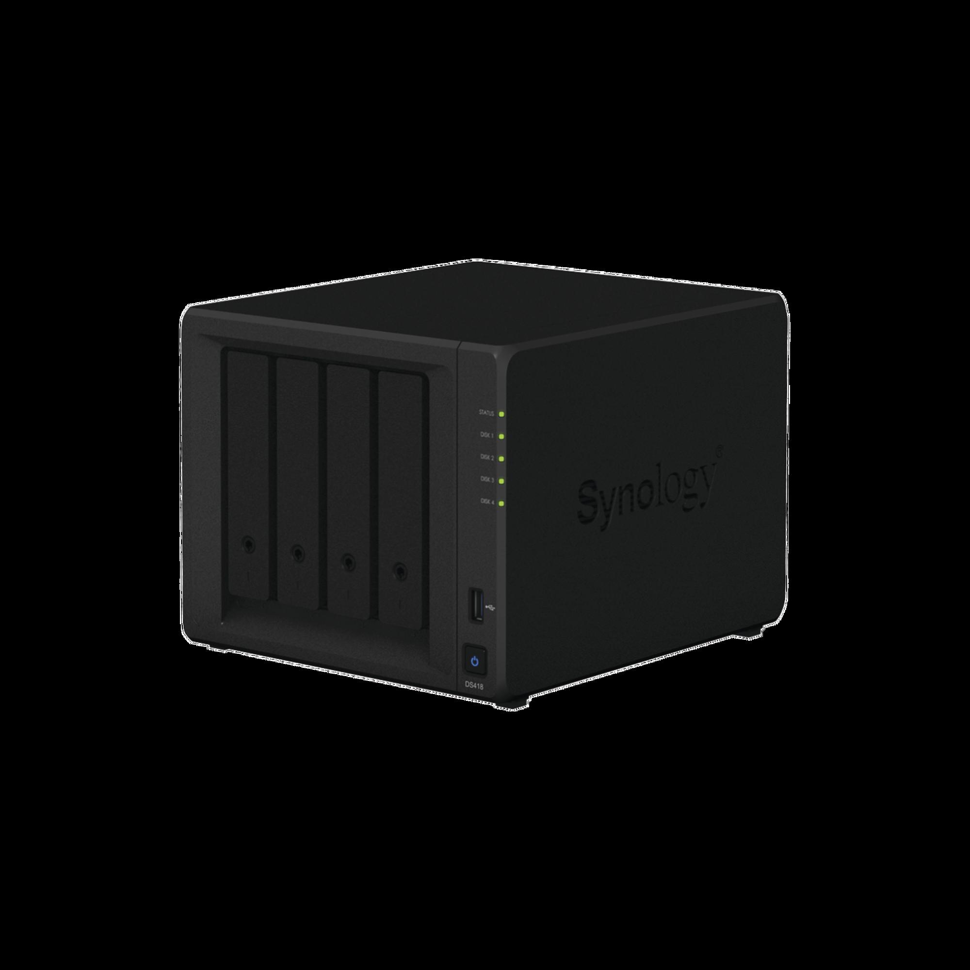 Servidor NAS de escrito de 4 bahías, soporta hasta 10TB por disco duro