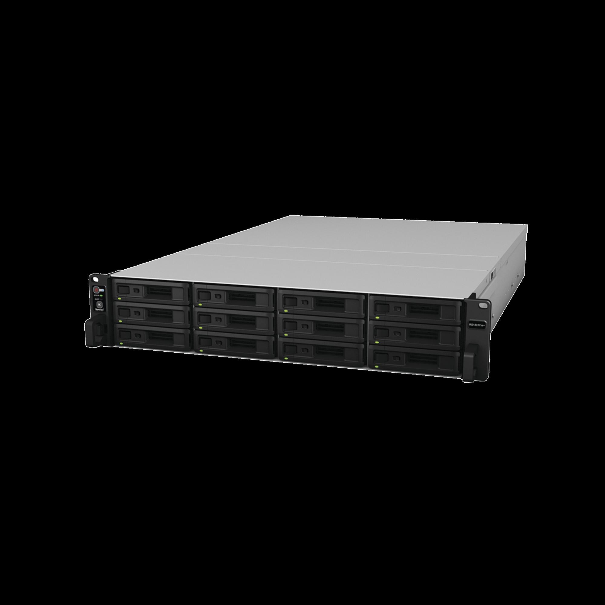 Servidor NAS para rack de 12 bahías / Expandible hasta 180 bahías / Hasta 1,152 TB
