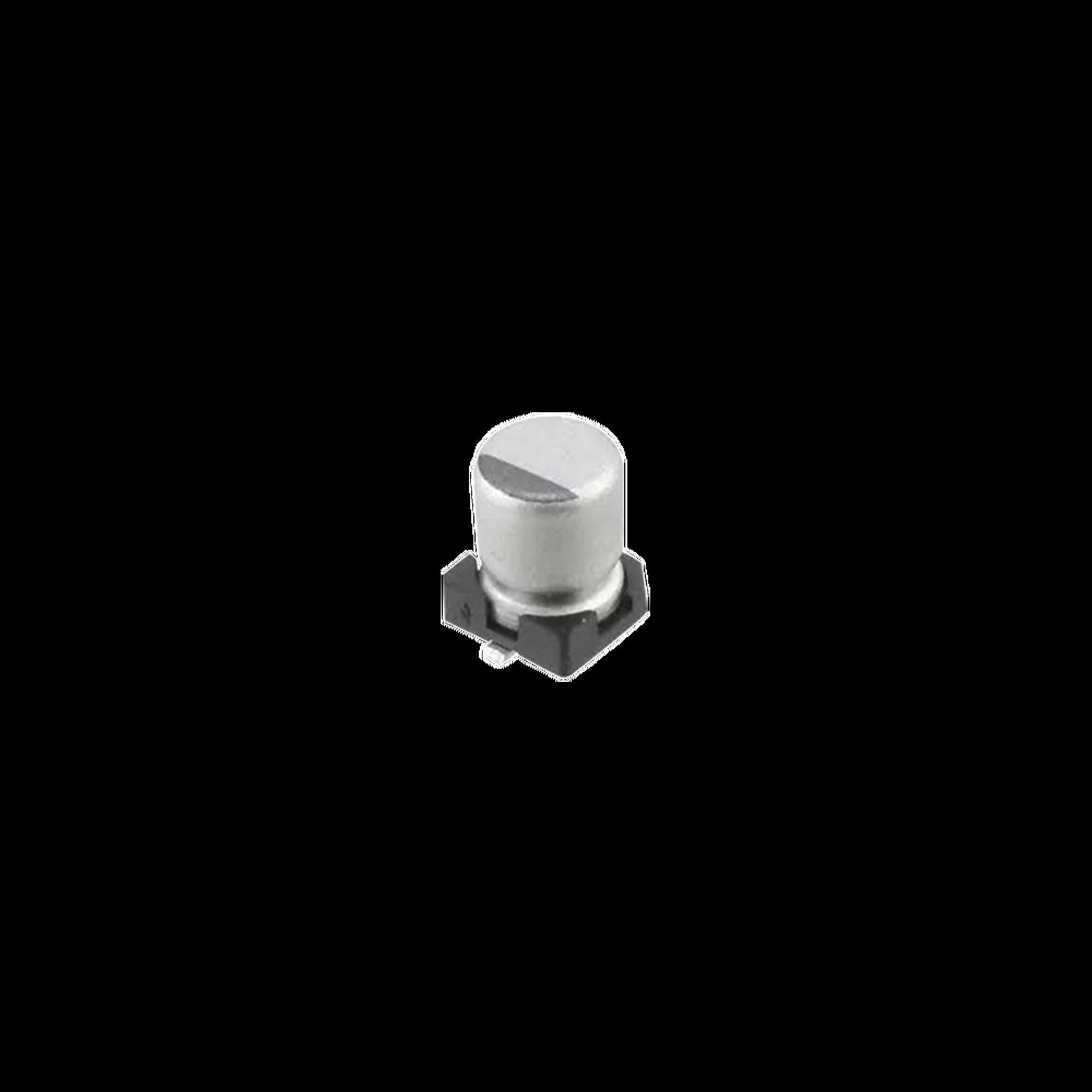 Capacitor Electrolítico de Aluminio de 1uF, 50V, 20% tipo SMD.