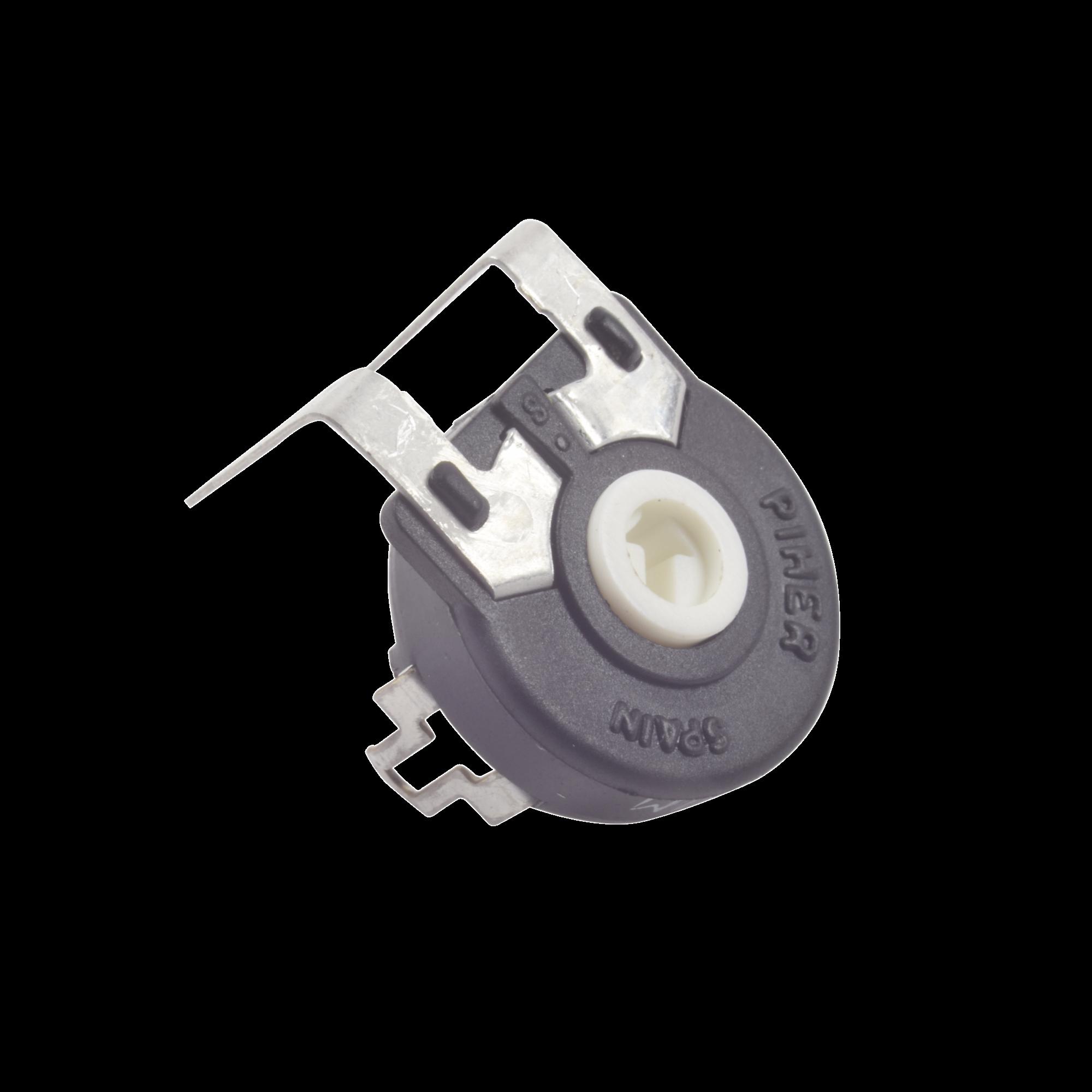 Potenciómetro de Carbón, 2.5 k Ohm, 0.25 Watt, 15 mm, Ajuste Vertical.
