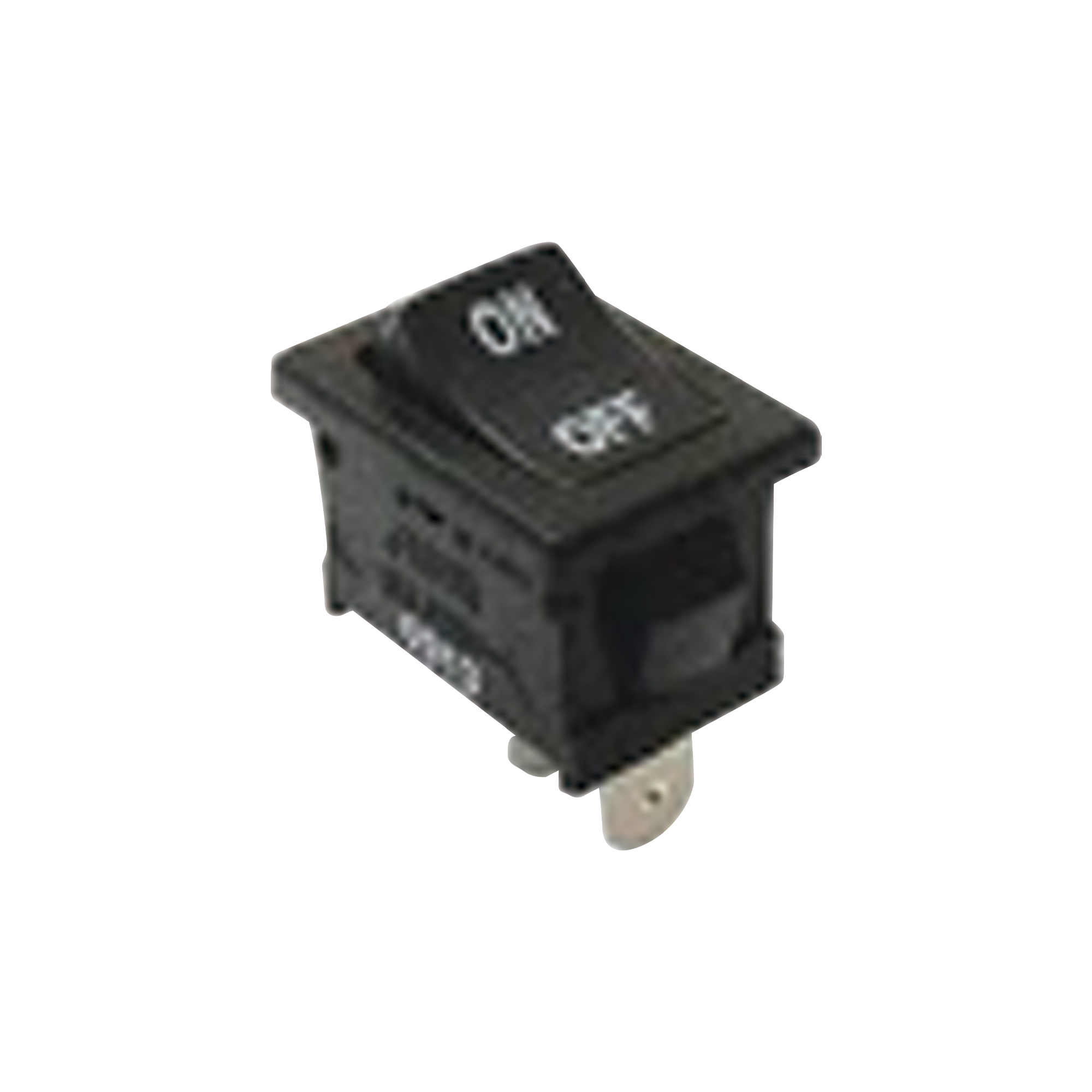 Interruptor Rocker SPST Off-On, Poliamida Negro, 11 Amp., Hasta 125 Vca, Contacto en Plata, 4.8 mm