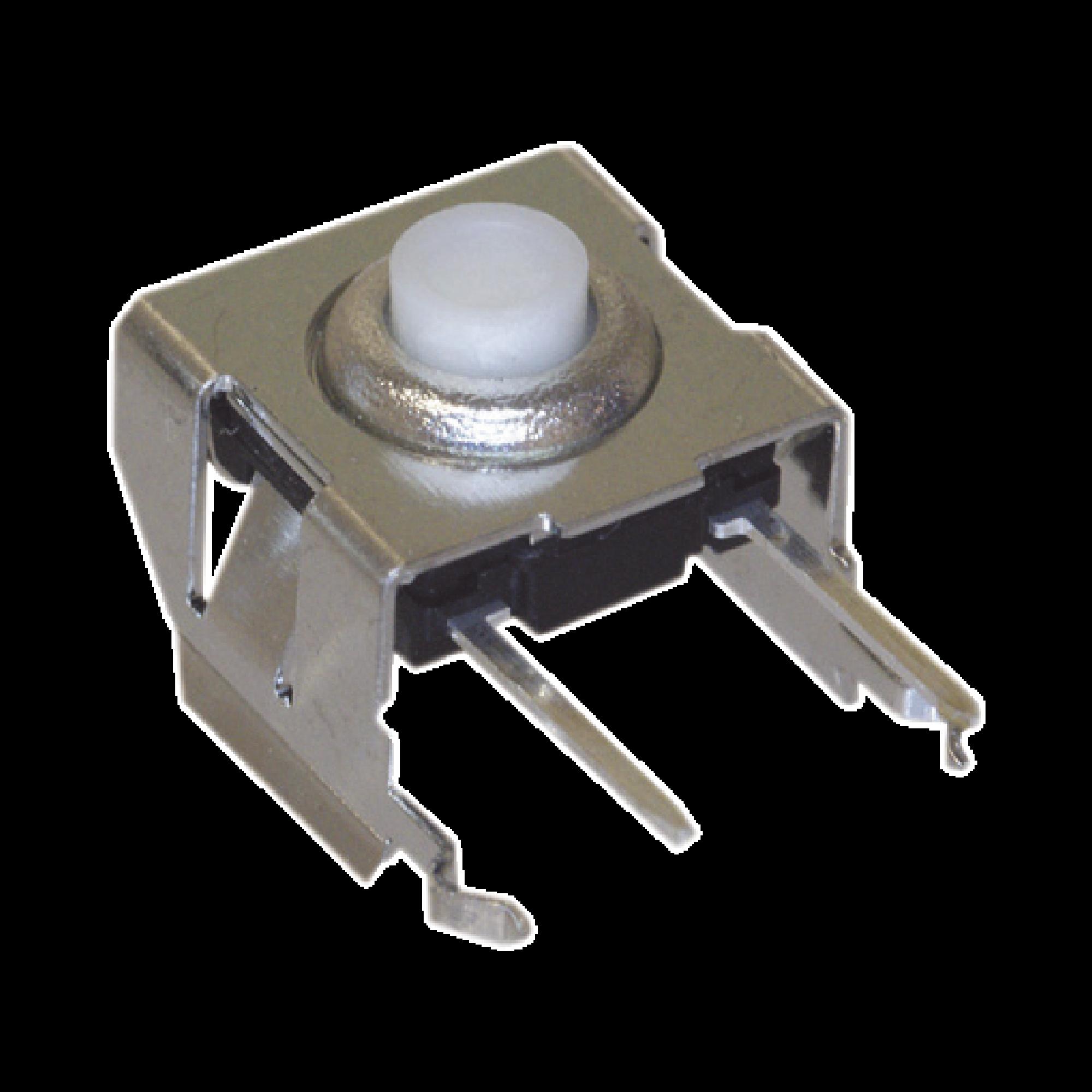 Interruptor Táctil en ángulo Recto / PCB, SPST, 50 mA, 12 Vcd (RoHS), para Mic. KMC-22