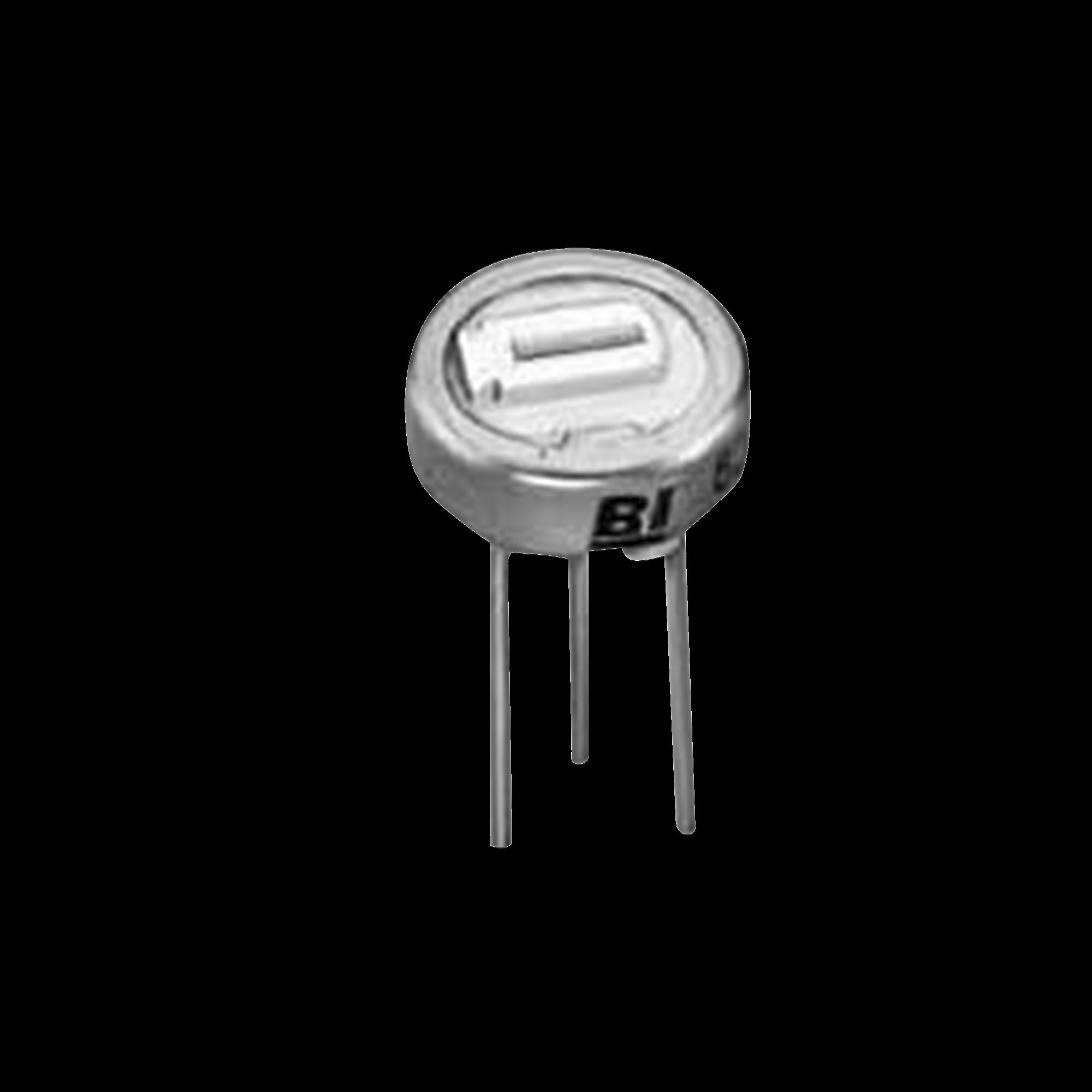 Potenciómetro Trimmer 200 Ohm, 6.35 mm, 1 Vuelta, 1/2 Watt.