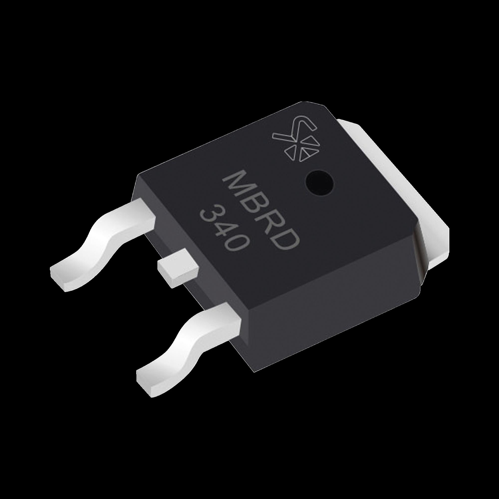 Diodo Rectificador Schottky, 3 Amp., 40 PIV, para SMD, Montaje DPAK, Tipo Anodo Dual.