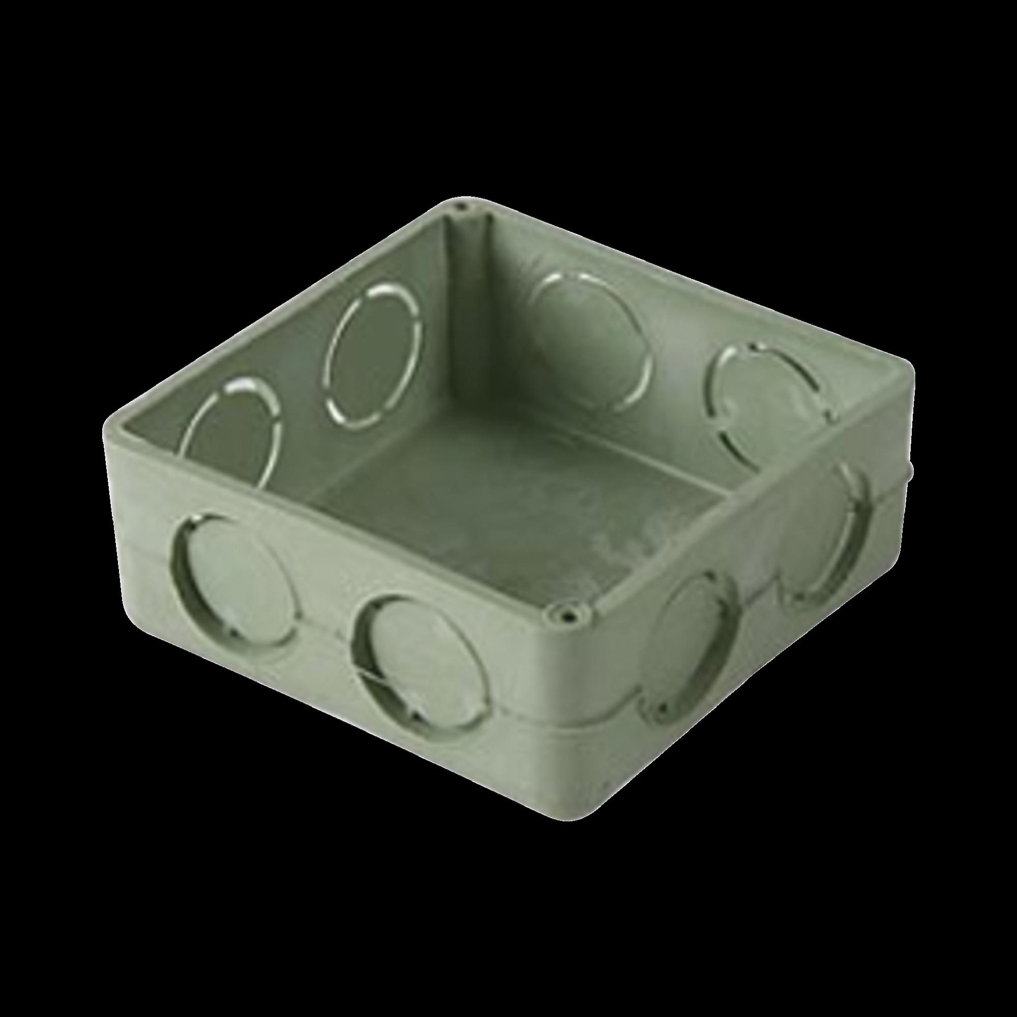 Caja cuadrada de 3/4  para instalaciones con tuberia PVC Conduit pesado