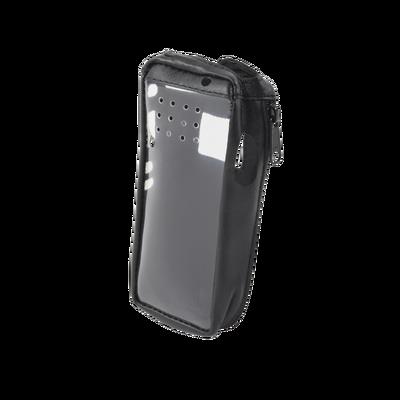 Funda Reforzada de piel, lazo para cinto, ventana plástica y cierre lateral / IC-F3161DS, IC-F4161DS.