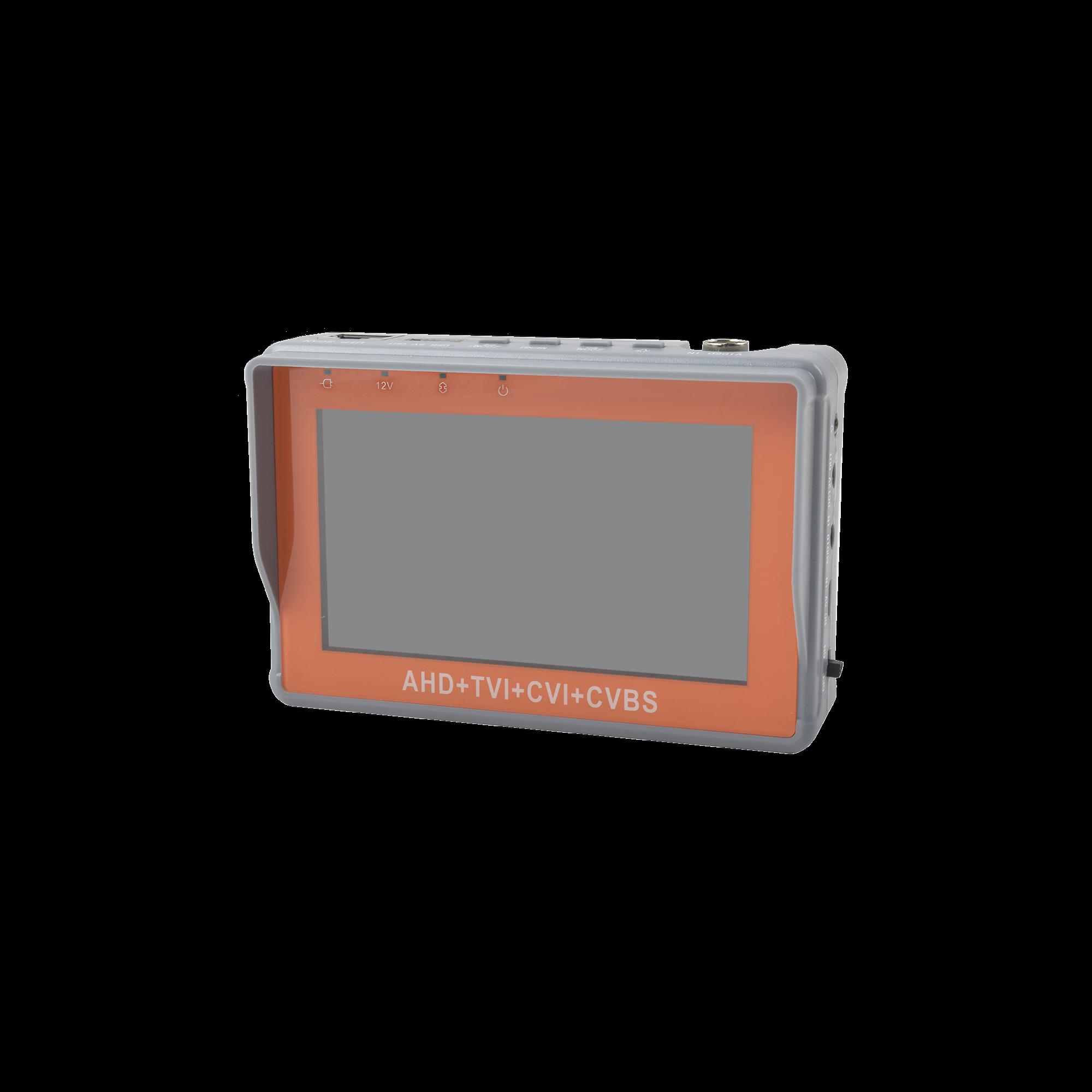 Probador de Vídeo de Pulsera con Pantalla de 4 Para Cámaras HD-TVI 5MP, HD-CVI 5MP, AHD 5MP y Analogicas 1200 TVLs