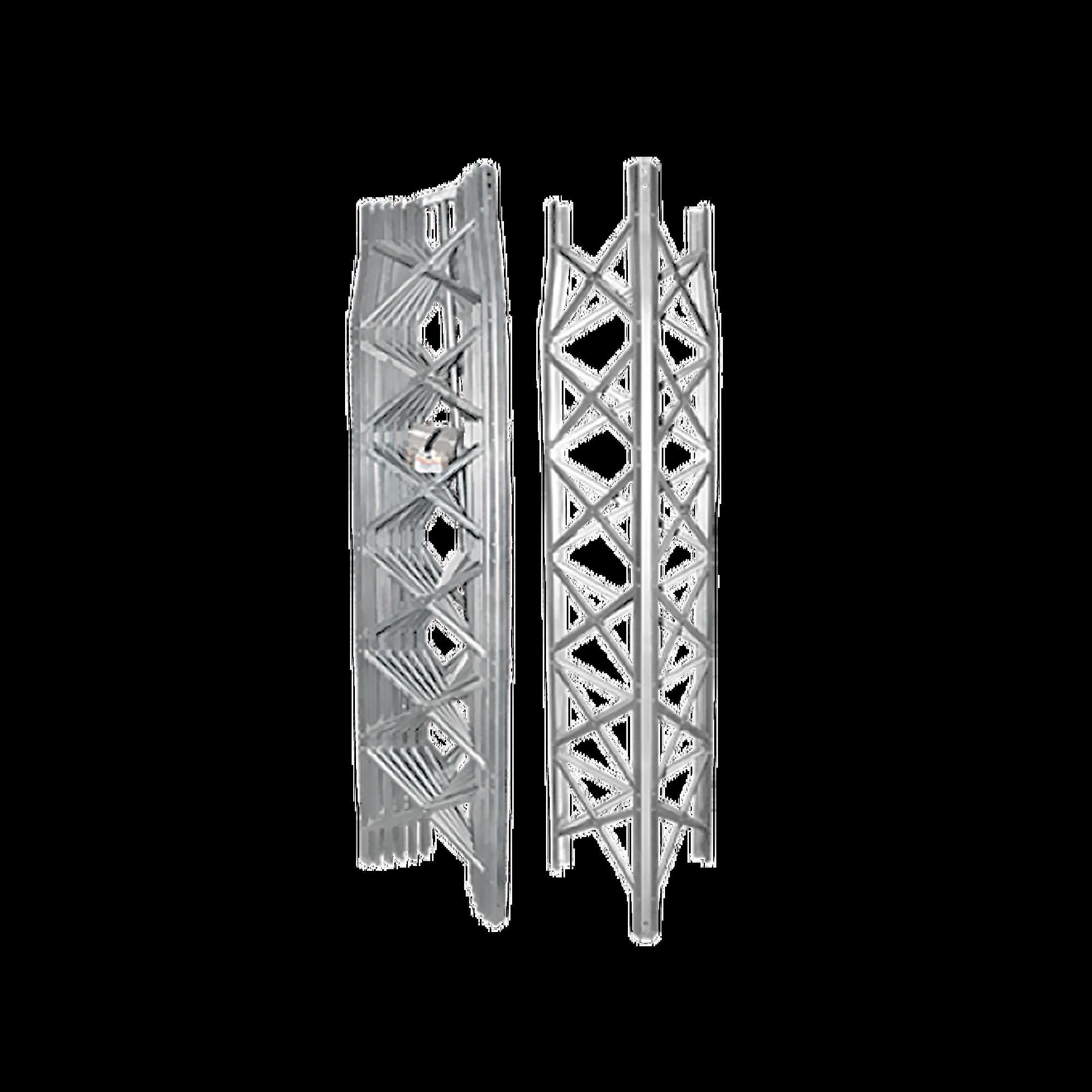 Torre Autosoportada Ligera GTBX de 17 m de altura, Secciones 2 a 8 Prearmadas. Sin Mástil. Inmersión en Caliente.