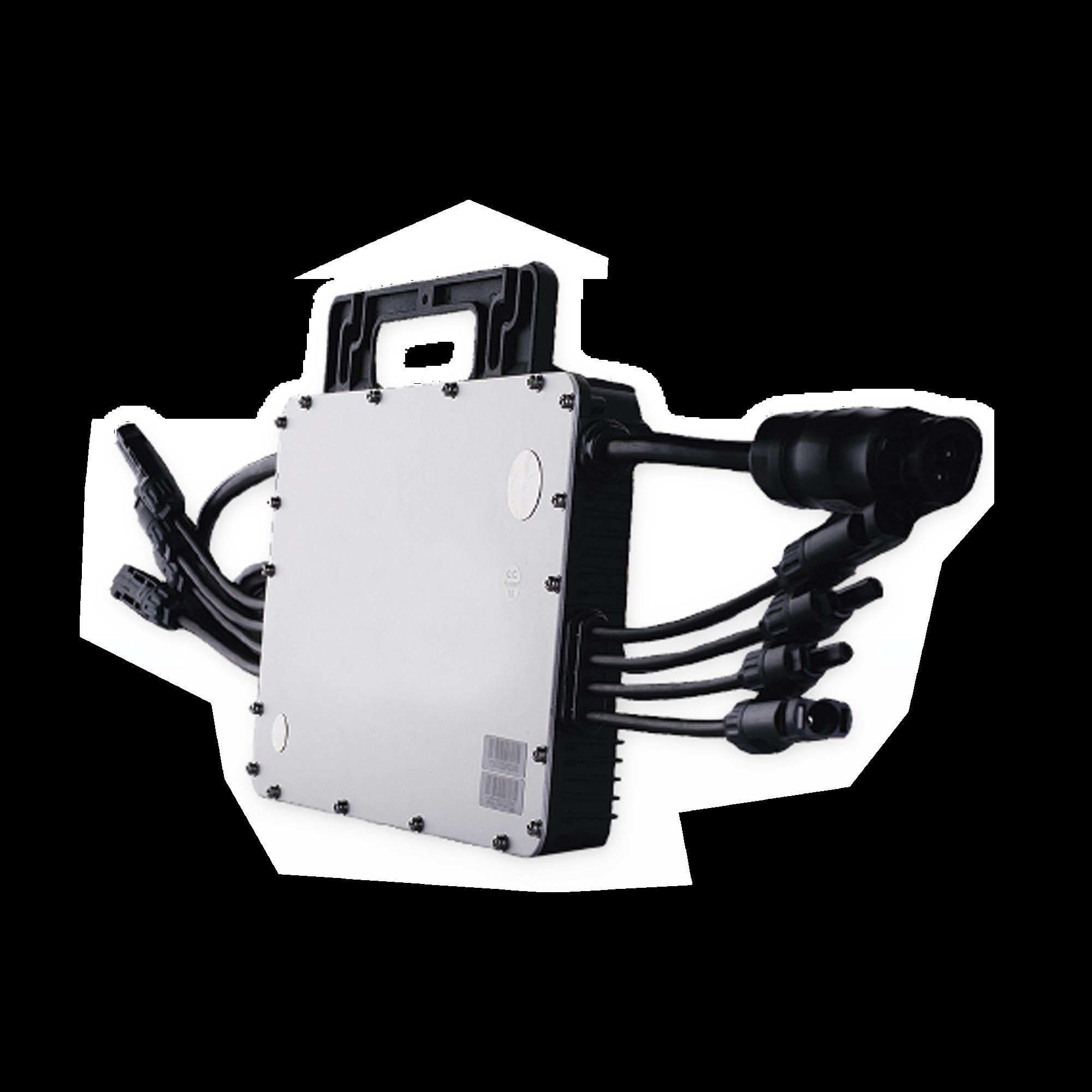 Microinversor 1500 W para Interconexión a Red Eléctrica 220V,  IP67, Con Cable Troncal Incluido, Para 4 Modulos de Hasta 470 W