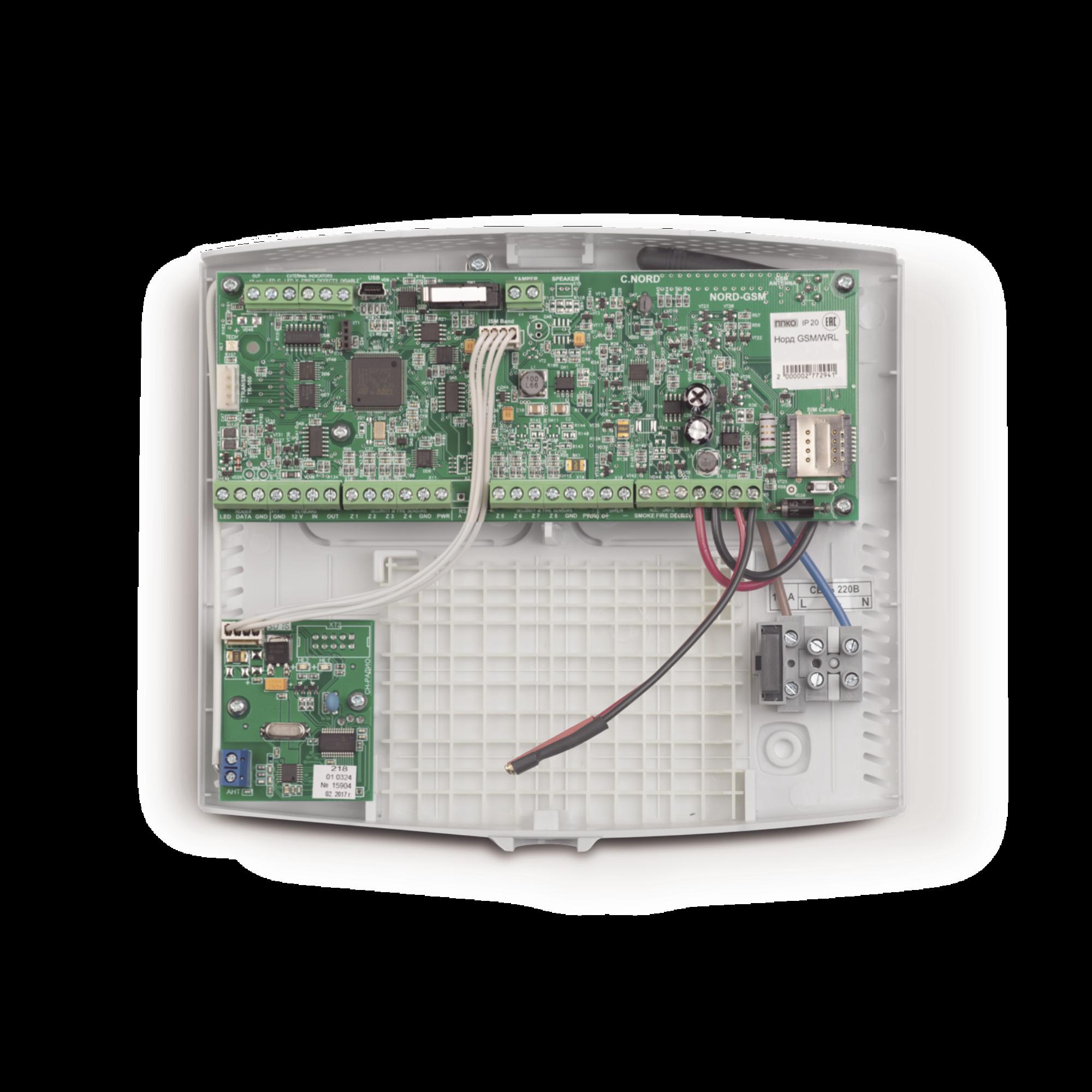 Panel de alarma hibrido, apto para seguridad profesional de oficinas, restaurantes, tiendas y otro tipo de comercio o casa habitación.