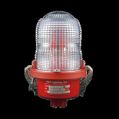 Lámpara de Obstrucción Roja, Tipo L-810, LED de baja intensidad, (120 - 240 Vca).