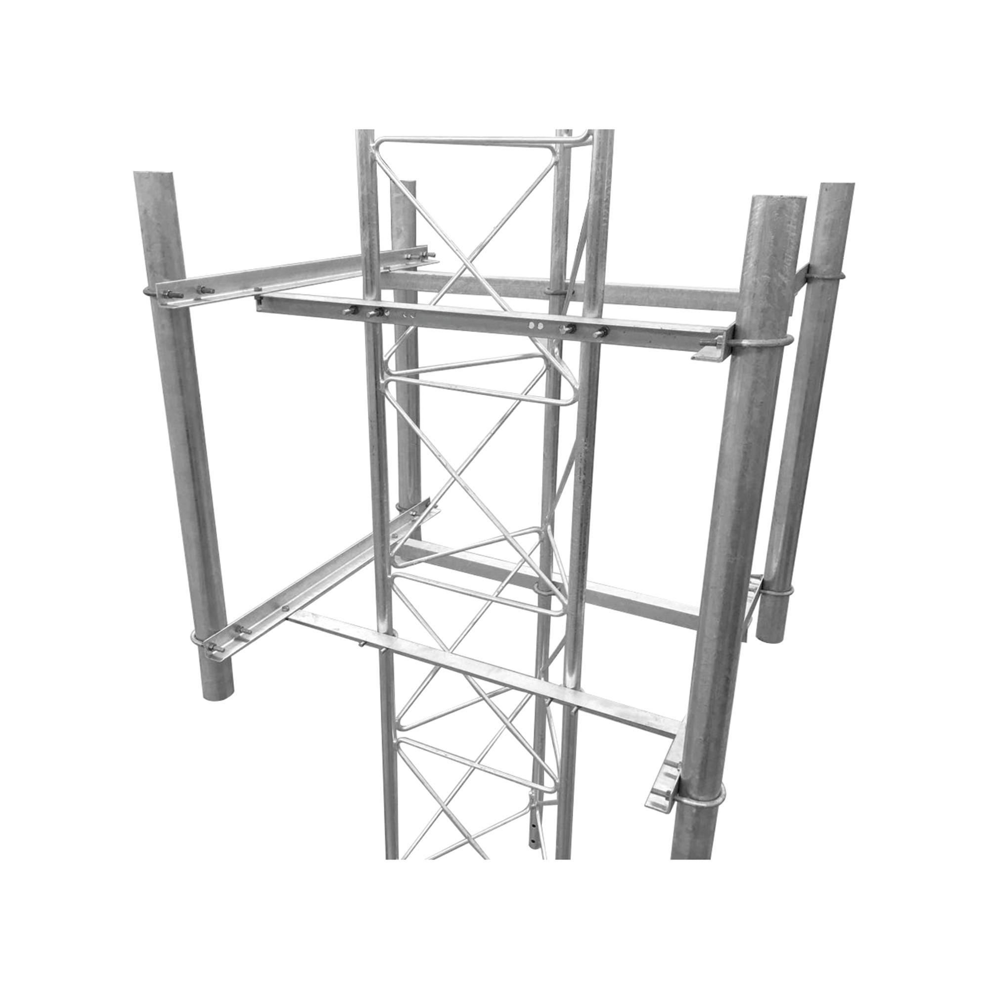Brazo lateral de 4 sectores recomendado para antenas sectoriales con angulo de apertura de 90? (o similar).