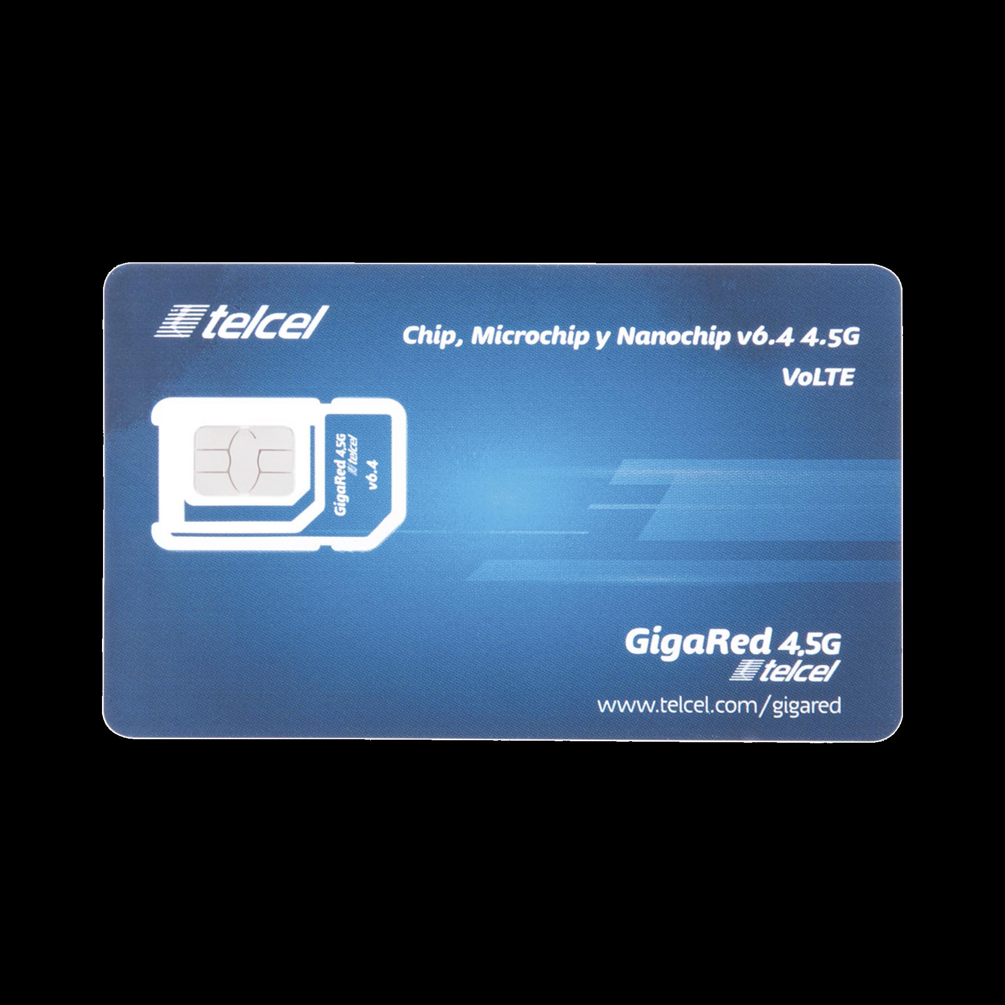 SIM TELCEL, Servicio Anual, 1GB por Mes  (No incluye llamadas y SMS)