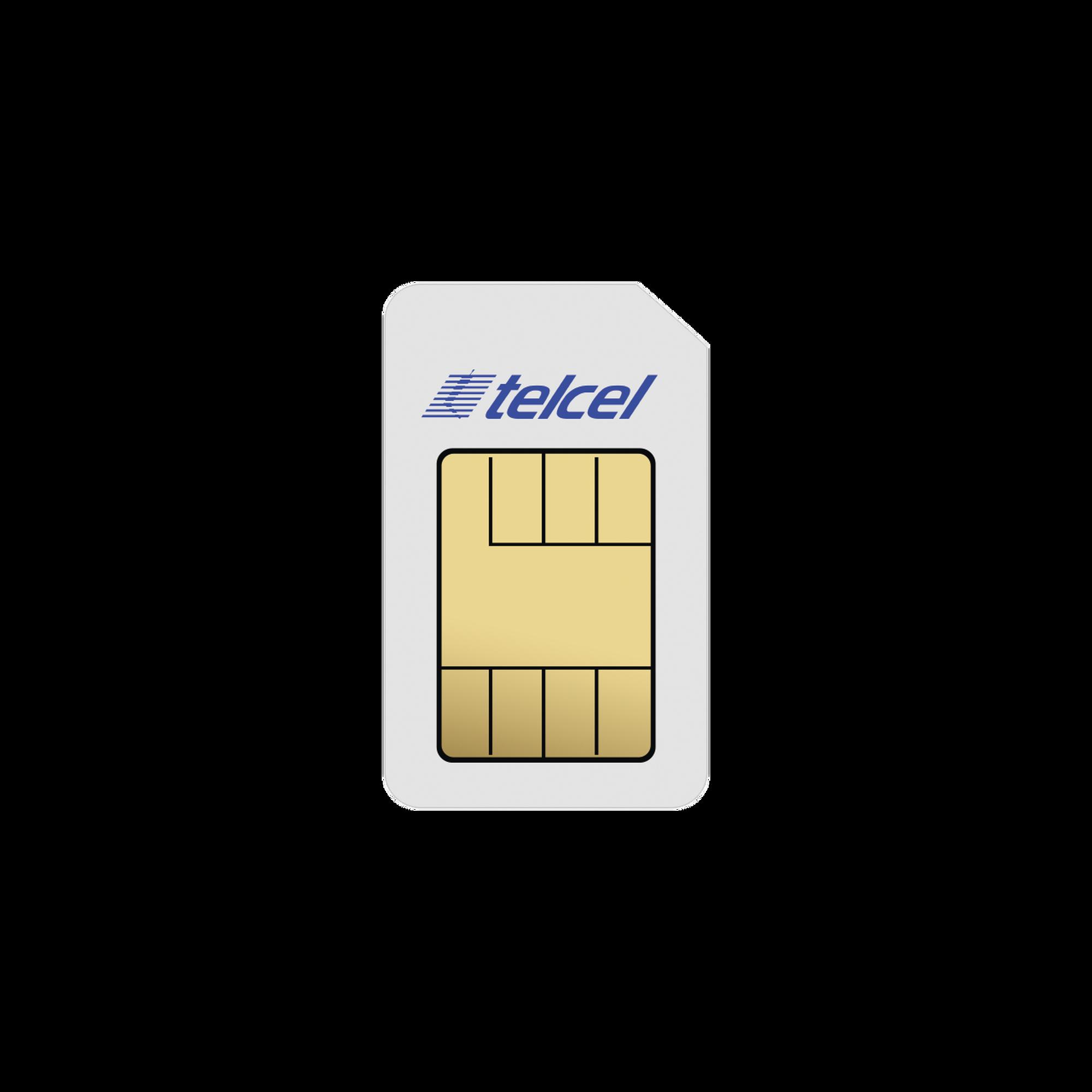 SIM de datos Telcel 4G con 10G mensuales, contrato de 1 año