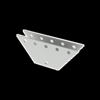 Par de Placas Igualadoras para 5 Orificios. Galvanizado por Inmersión en Caliente. 20 x 20 x 50 cm.