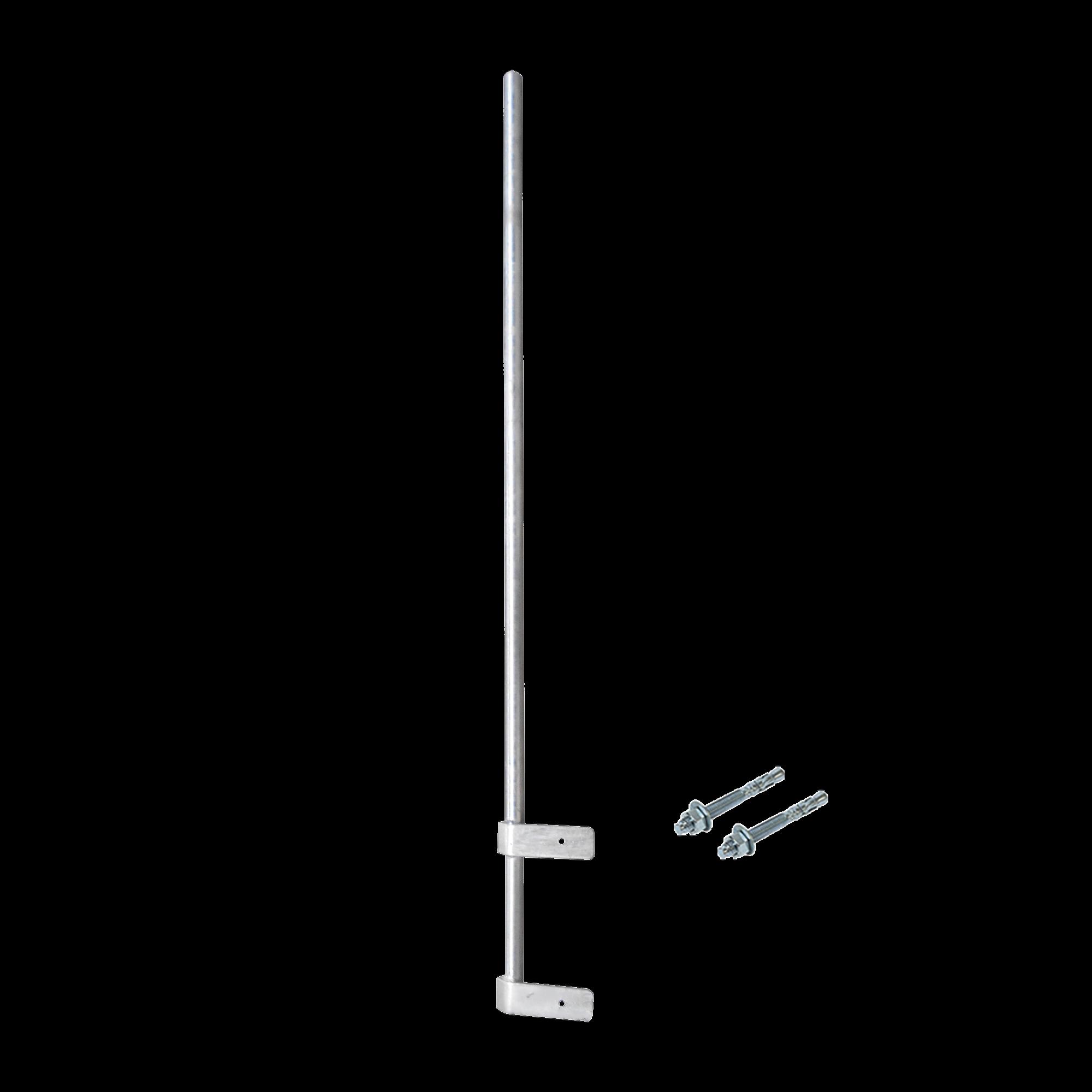 Mástil Liviano de Pared de 1.5 m (Diam. 1-1/4) con Cejas de Fijación  Soldadas, ?No se gira! Incluye Taquetes para instalación.