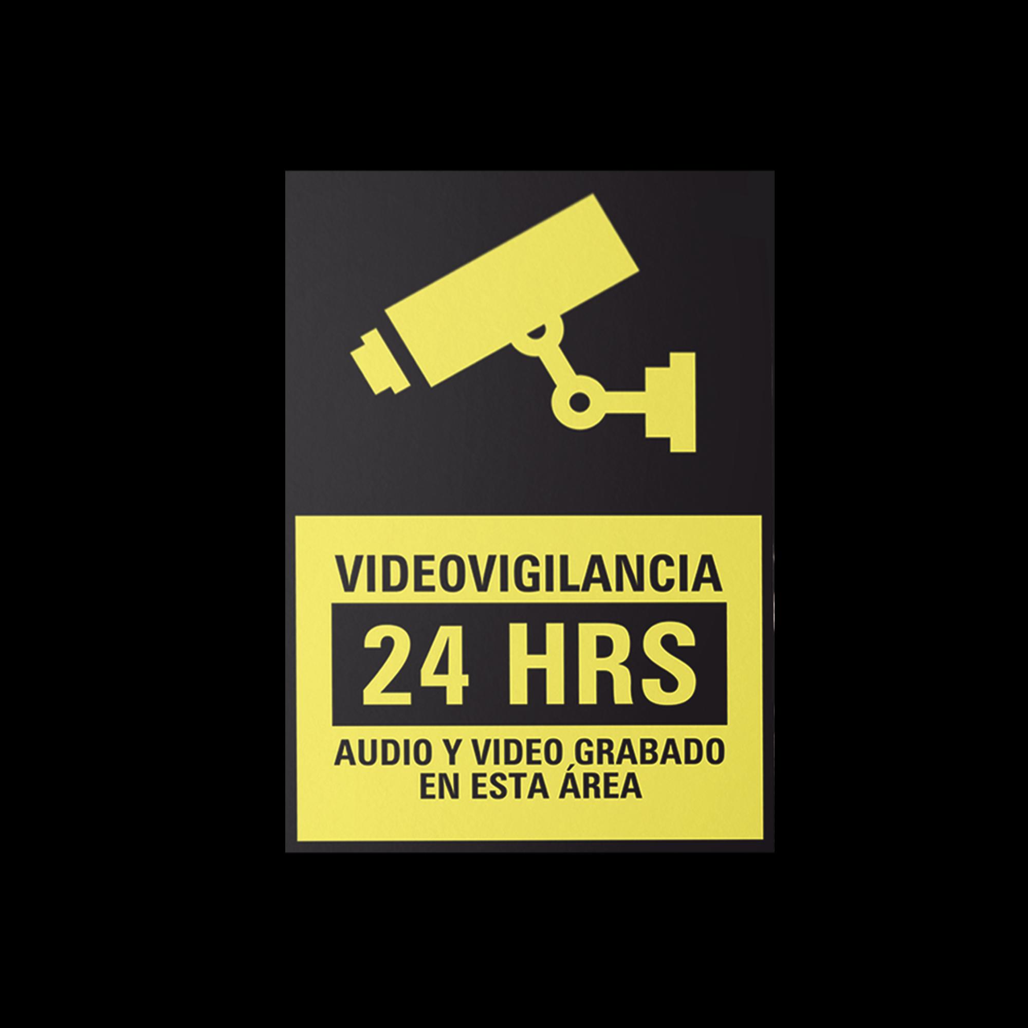 Etiqueta de Videovigilancia en Vinil Adhesivo Mate / Paquete con 10