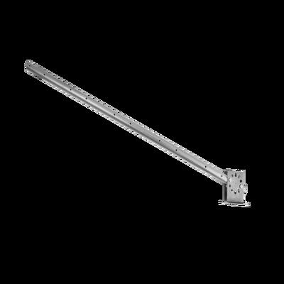 Poste con altura de 1m para cercos eléctricos/ Incluye base multiposicion fabricado 100% con acero galvanizado con 5 aisladores de paso