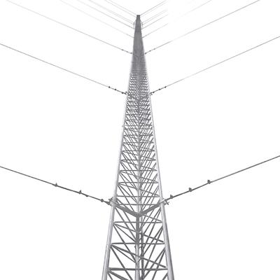 Kit de Torre Arriostrada de Techo de 18 m con Tramo STZ30G Galvanizada por Inmersión en Caliente (No incluye retenida).