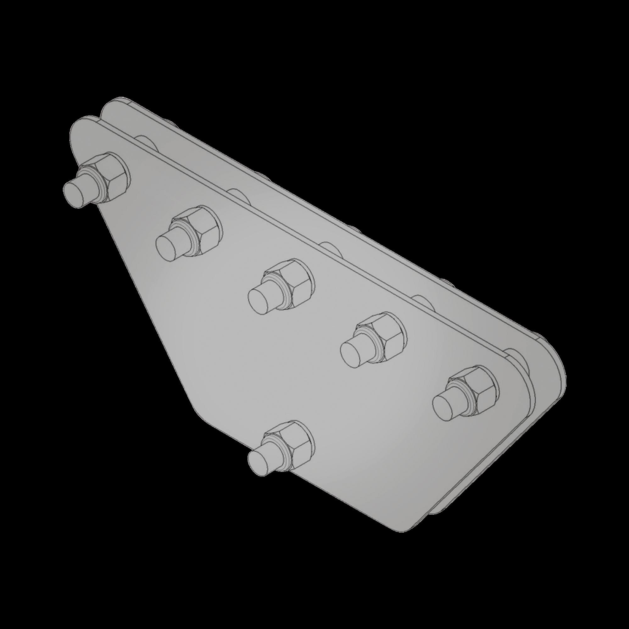 Placas igualadoras con tornillería y separadores, para 5 retenidas. Galvanizado en inmersión (20x20x50 cm).
