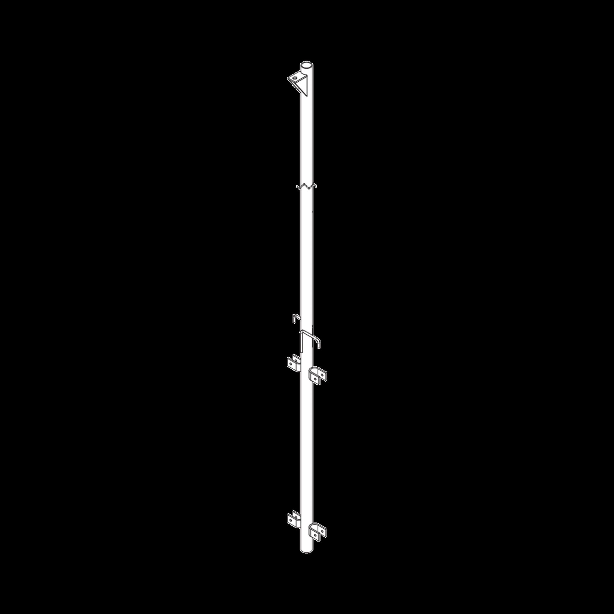 Pluma de Aluminio de 4 metros CED.40  para Instalacion de Tramos STZ (Con Polea).
