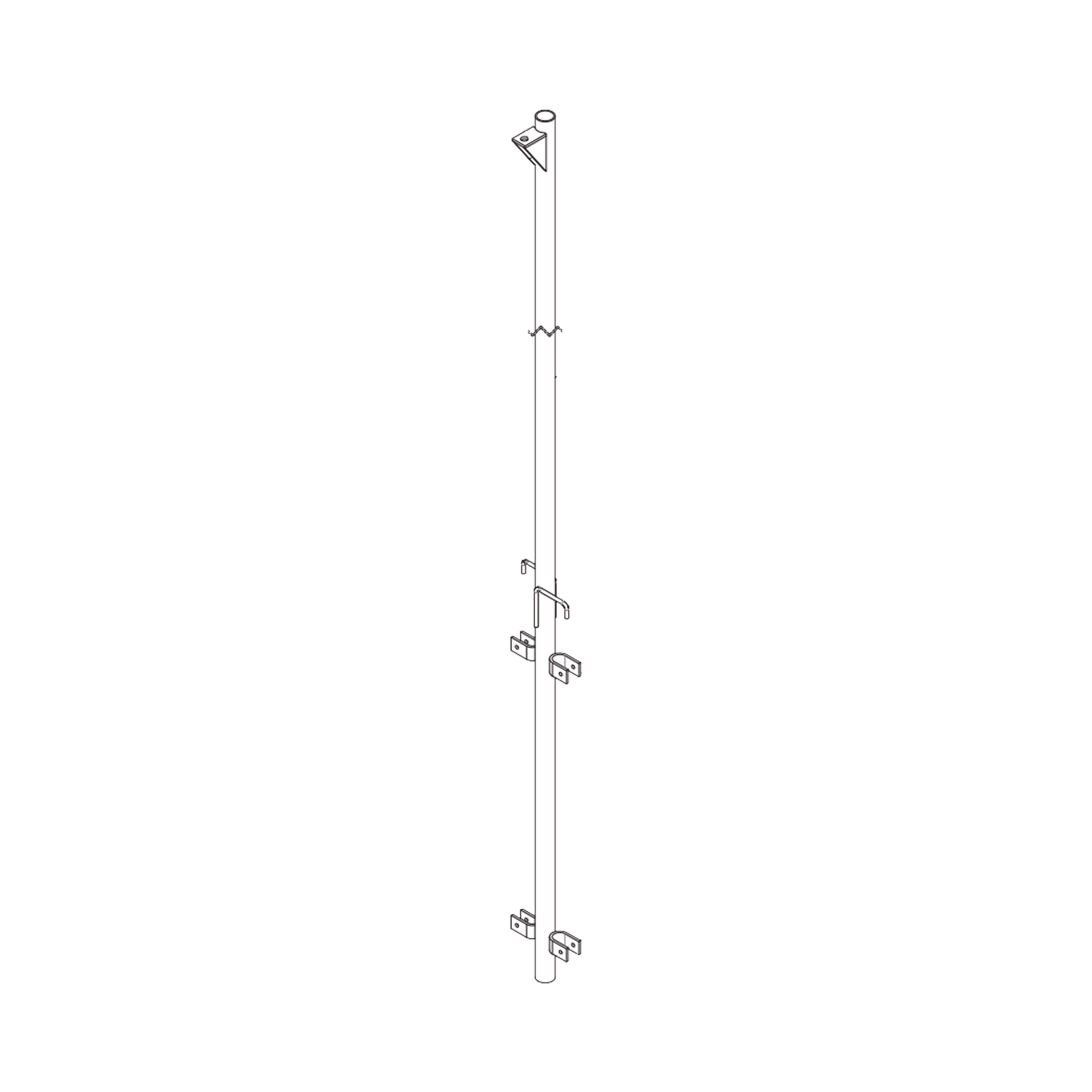 Pluma de Aluminio de 4 metros CED.40  para Instalación de Tramos STZ (Con Polea).