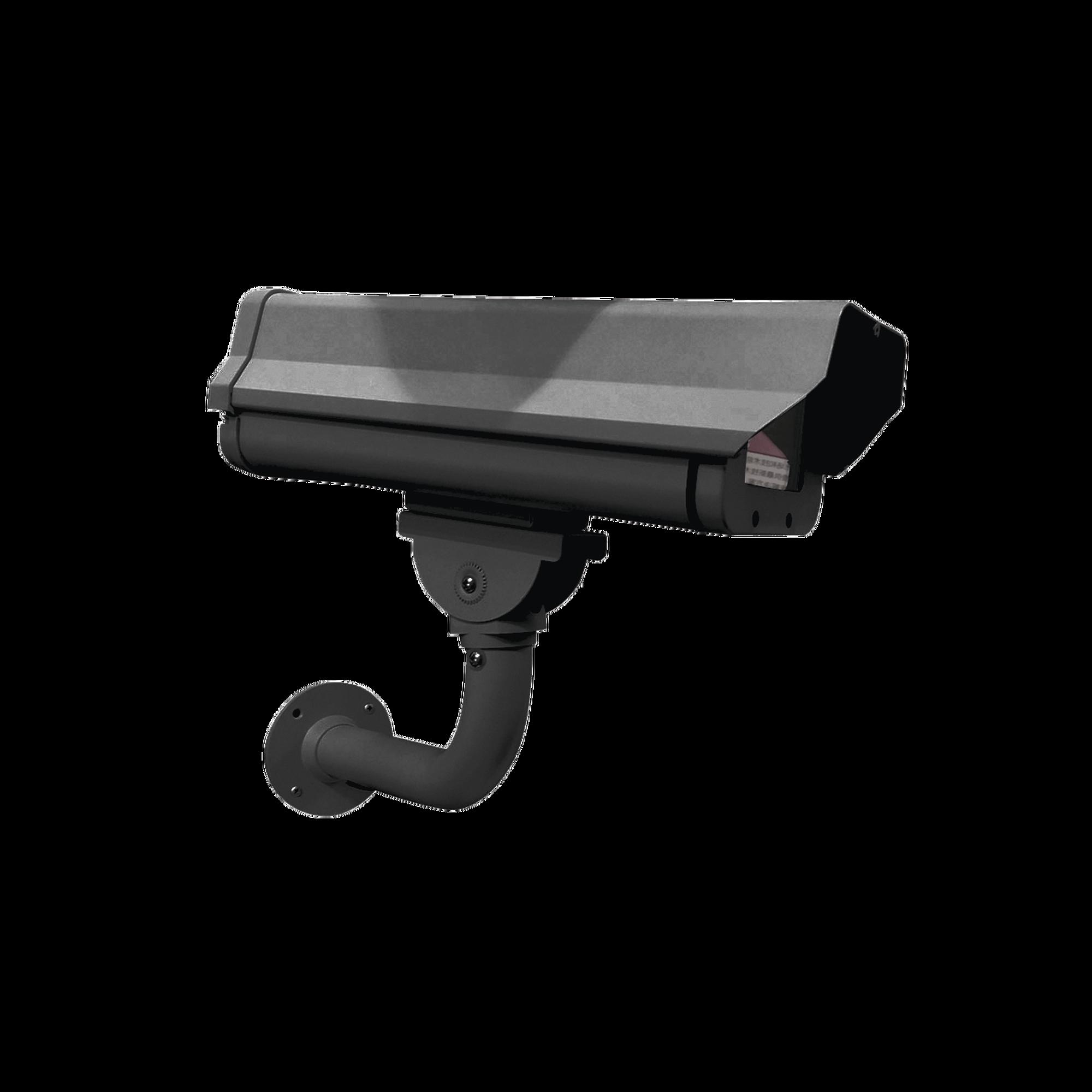 Gabinete Antivandálico IP66 con Brazo de Acero Color Negro