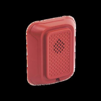 Sirena para Montaje en Pared, 12 a 24 Vcd, Color Rojo, Nuevo Diseño Moderno y Elegante y Menor Consumo de Corriente