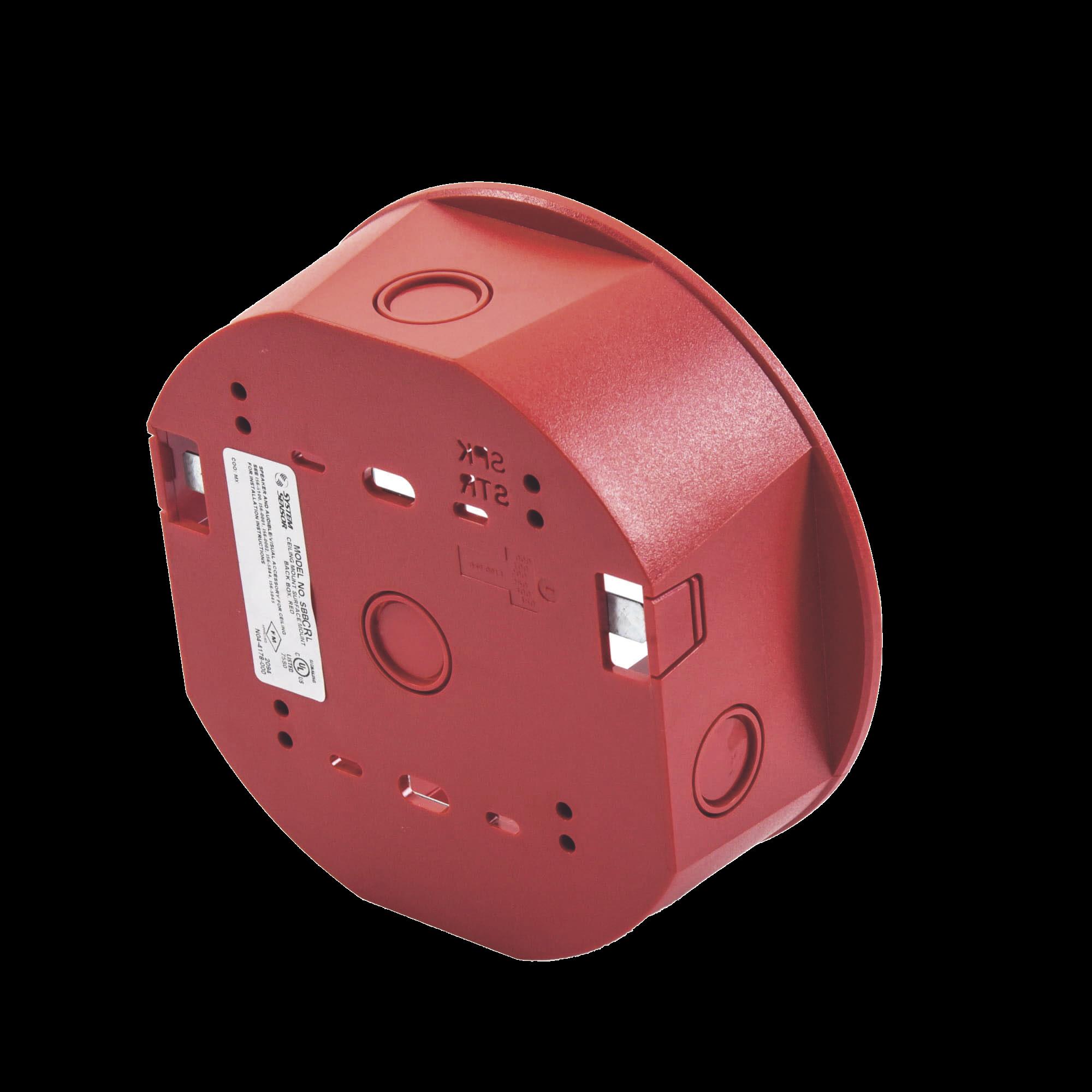 Caja de Montaje en Techo, para Sirena, Color Rojo, Nuevo Diseño Moderno y Elegante