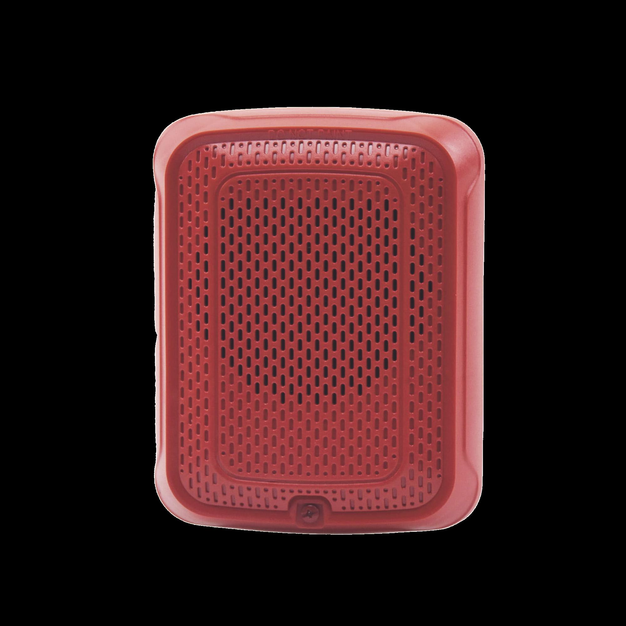 Bocina para Montaje en Pared, Color Rojo, Nuevo Diseño Moderno y Elegante y Menor Consumo de Corriente