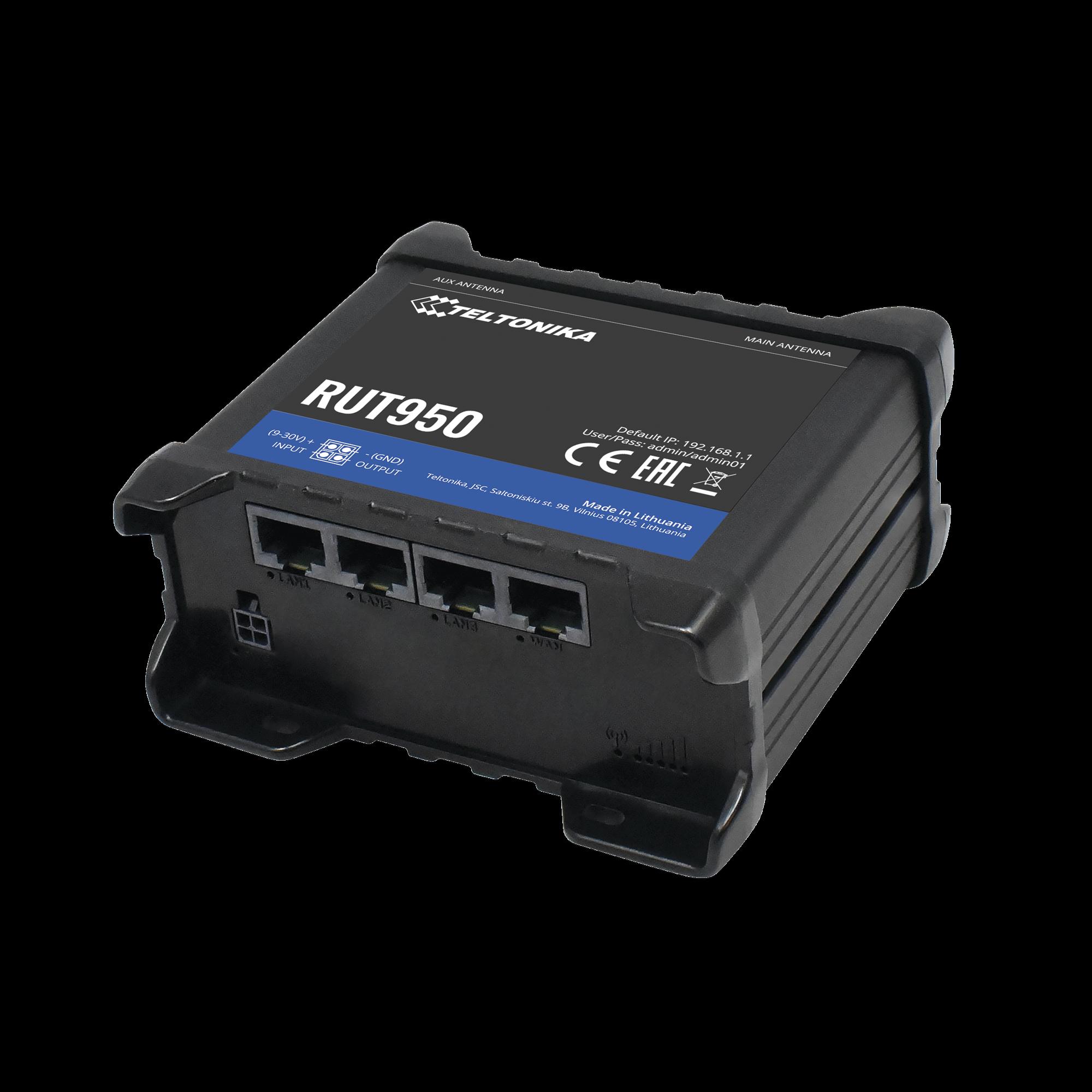 Router LTE dual SIM, 4 puertos Ethernet, conectorizado, Bandas B1, B2, B3, B4, B5, B7, B8, B28